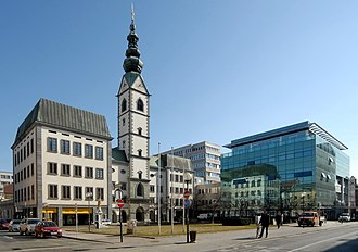 Klagenfurt - The Cathedral of Klagenfurt and the Domplatz