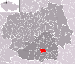 Location of Kleneč