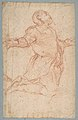 Kneeling Male Figure with Outstretched Arms (recto); Semi-Nude Seated Male Figure seen from Behind (verso) MET DP810765.jpg