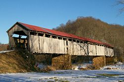The Knowlton Covered Bridge on the Little Muskingum River