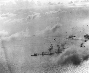 Japanese battleship Kongō - Kongō under attack during the Battle of the Philippine Sea, 20 June 1944