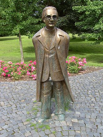 Hünfeld - Memorial of Konrad Zuse, inventor of the Computer, at Stadtpark Hünfeld
