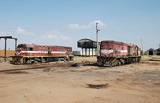 Rail transport in Sudan - Diesel locomotives at Kosti, Sudan in 2008