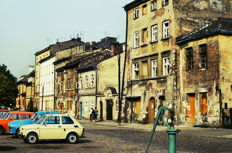 Quartier de Kazimierz à Cracovie en 1983 - Photo de Piotr Ilowiecki
