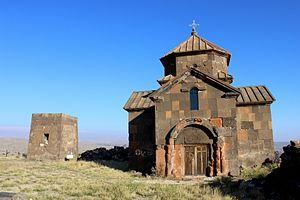 Saint Christopher Monastery - Saint Christopher Monastery (7th-century, restored), 13th-century rectangular bell tower (left)