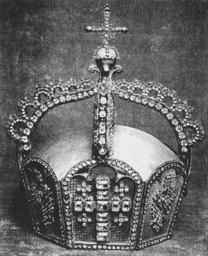 German State Crown - Wooden model of the Imperial Crown