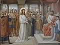 Kruisweg Sint-Clemenskerk, Nuenen, statie 01, Jezus wordt ter dood veroordeeld.jpg