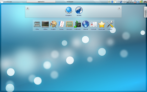 Screenshot of Kubuntu 9.10 Netbook Edition