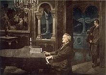 Wagner und Ludwig II. (Gemälde von Kurt von Rozynski, 1890) (Quelle: Wikimedia)