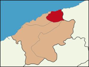 Kurucaşile - Image: Kurucaşile District Location in Bartın Province