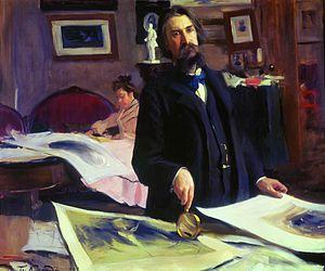 Vasily Mate - Vasily Mate by Boris Kustodiev, 1902