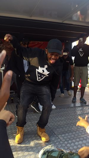 Kwesta - Image: Kwesta Perfoming at City View in Durban