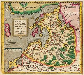 Livonian War - Image: LIVONIAE NOVA DESCRIPTIO 1573 1578