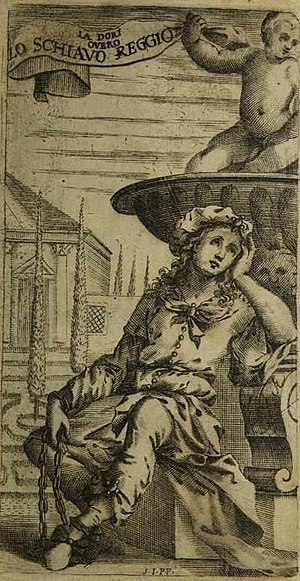La Dori - Dori in her slave chains (from the libretto for the 1667 Venice production)