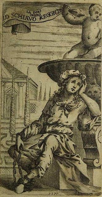 La Dori - Dori in her slave chains (from the libretto for the 1667 Venice production)