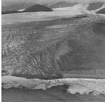La Perouse Glacier, tidewater glacier terminus with seracs and lateral moraine, September 16, 1972 (GLACIERS 5572).jpg