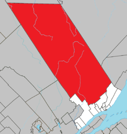 Location within La Côte-de-Beaupré RCM.