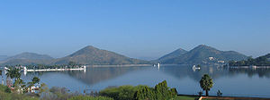 Fateh Sagar Lake - A panoramic view of Fateh Sagar Lake