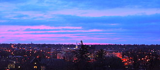 West Lafayette, Indiana - Sunrise over Lafayette and West Lafayette