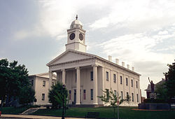 The Lafayette County Courthouse in Lexington, MO