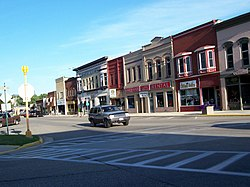 Downtown Lake Mills, east of the intersection of Lake and Main streets