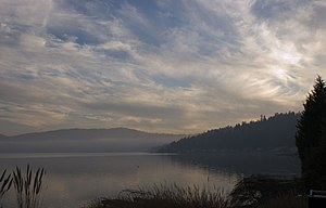 Lake Sammamish - Image: Lake Sammamish sunset