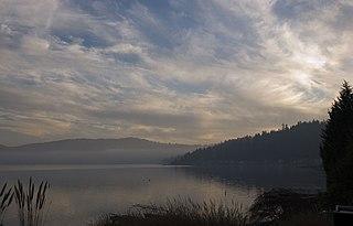 Lake Sammamish Lake in King County, Washington, USA