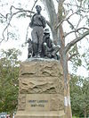 Memorial to Henry Lawson by George W. Lambert (1931) in The Domain, Sydney