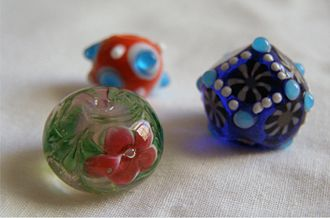 Glass beadmaking - Lampwork glass beads