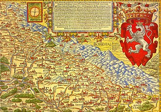 Silesia - First map of Silesia by Martin Helwig, 1561; north at the bottom