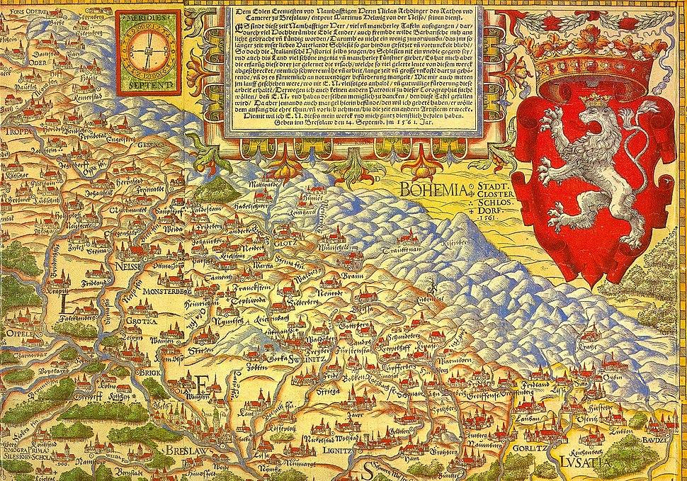 Landkarte von Schlesien