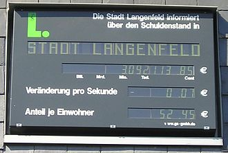 Langenfeld, Rhineland - Debt clock (2007)
