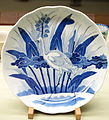 Large Dish with arrowhead plant and heron design, Imari ware, Edo period, 19th century, underglaze blue - Tokyo National Museum - DSC06048.JPG