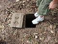 Lascar Typical trap door - Chu Chi tunnels (4607376195).jpg