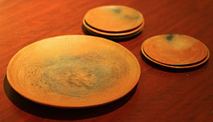 Comal (cookware) - Various sized earthenware comals