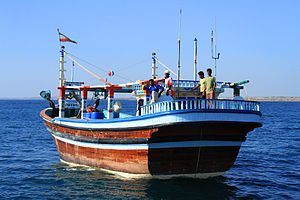 Launch (boat) - An Iranian launch, used for fishing