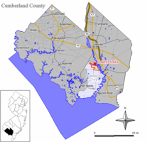 Map of Laurel Lake CDP in Cumberland County