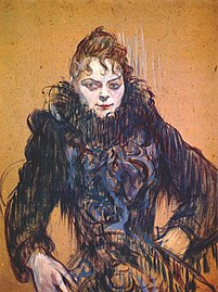Lautrec woman with a black feather boa c1892.jpg
