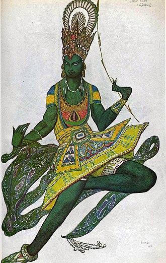 Le Dieu bleu - Bakst's costume design for The Blue God