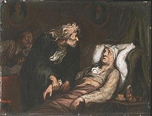 Le malade imaginaire par Honoré Daumier