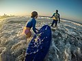 Learning to surf with Ocean Adventures, Durban beach front. KwaZulu Natal, South Africa (20325181890).jpg