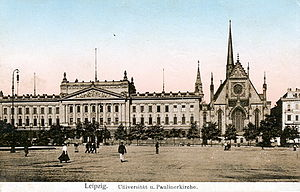Leipzig University - Leipzig University main building (1917). It was demolished by the socialist administration in 1968.