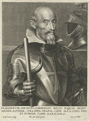 Lelio Brancaccio - Portrait of Lelio Brancaccio, engraved by Nicolaes Lauwers after Anthony van Dyck