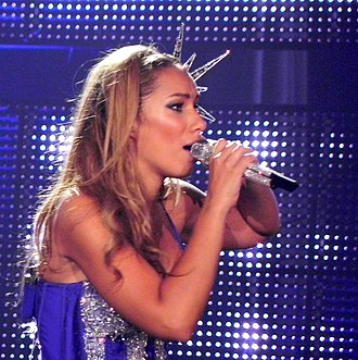 "Bleeding Love - Lewis performing ""Bleeding Love"" on the Labyrinth Tour in 2010."