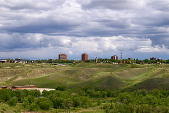 Lethbridge - Skyline of downtown Lethbridge
