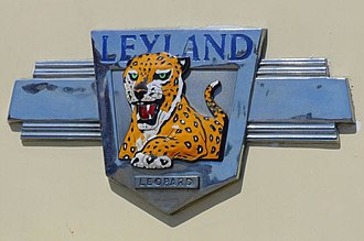Bus manufacturing - Manufacturers badge of a Leyland Leopard bus