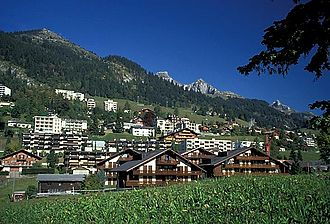 Leysin - View of Leysin and surrounding mountains