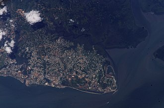 Libreville - Satellite view of Libreville