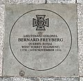 Lieutenant Colonel Bernard Freyberg commemorative paving stone outside Richmond Station.jpg