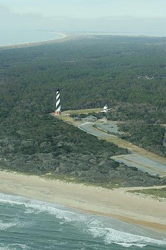 Cape Hatteras National Seashore - Image: Lighthouse at Cape Hatteras National Seashore. NPS Michael B. Edwards (18497979278)